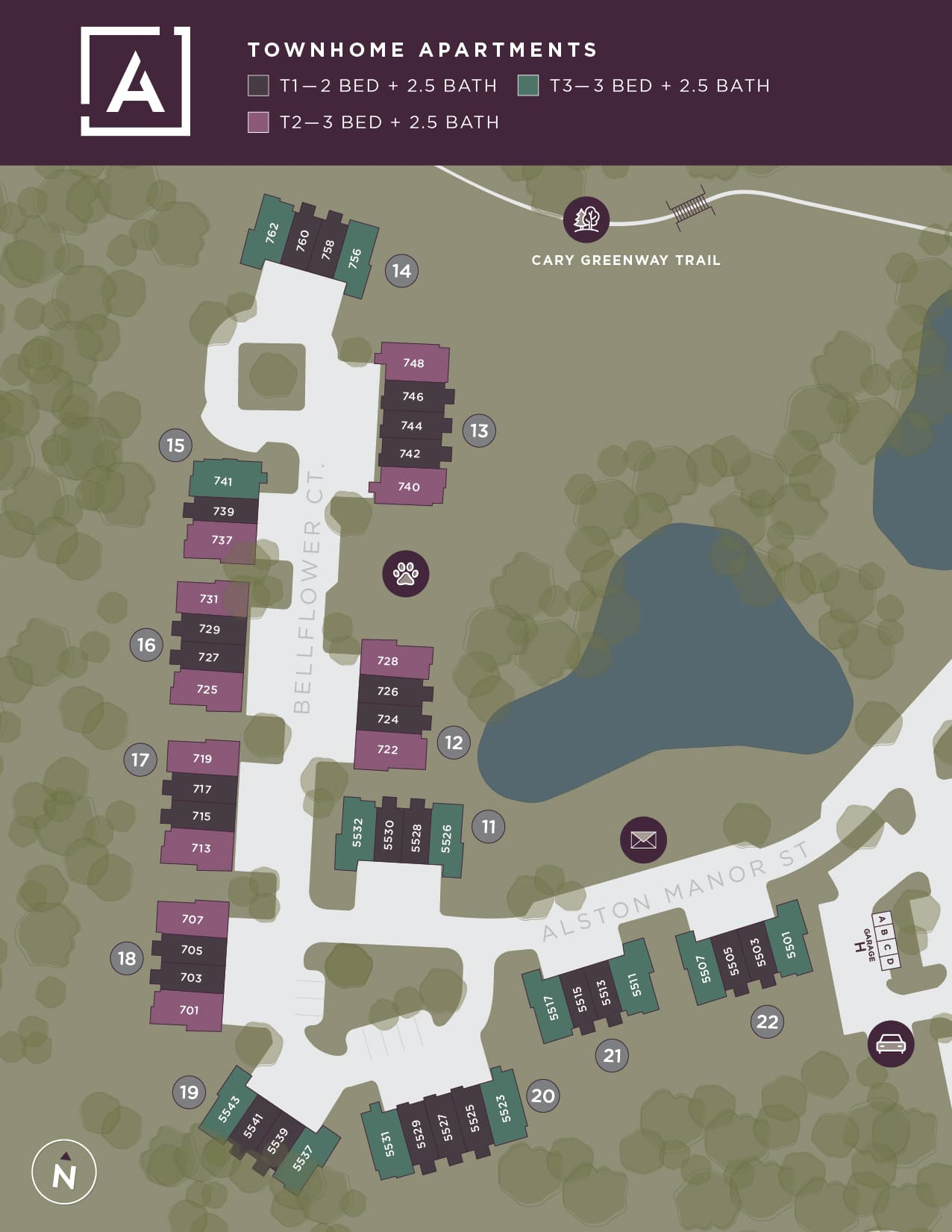 TheAster CommunityMap Townhome 1 01